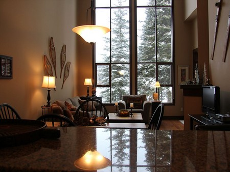 Beautiful Vaulted ceilings in Sun Peaks Stones Throw condo