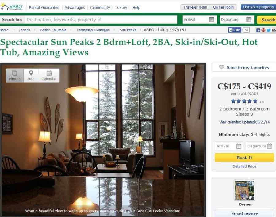 VRBO Stones Throw at Sun Peaks Resort - our favorite Sun Peaks Lodging