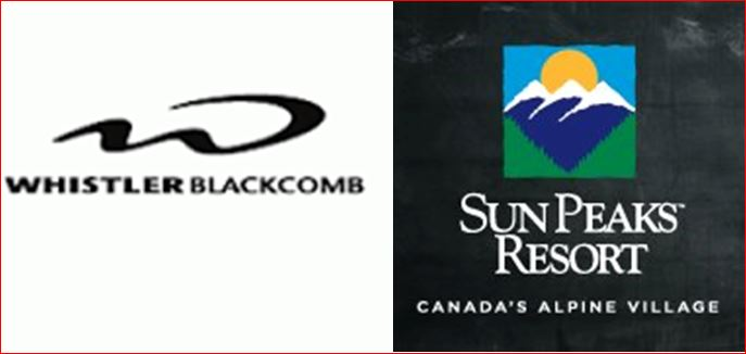 Whistler and Sun Peaks - 1st and 2nd Best in Canada