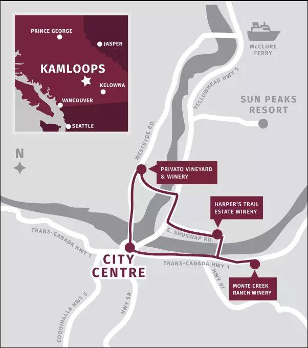 Kamloops Wine Trail with guided tours from Sun Peaks
