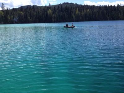 Canoeing on Johnson Lake (photo BestSunPeaks.com)