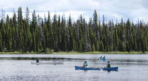 Voyageur canoe tours near Sun Peaks Resort