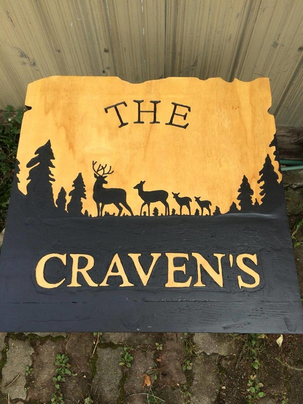custom wooden carved family signs