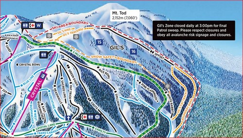 Gil's off-piste, back-country ski area at Sun Peaks