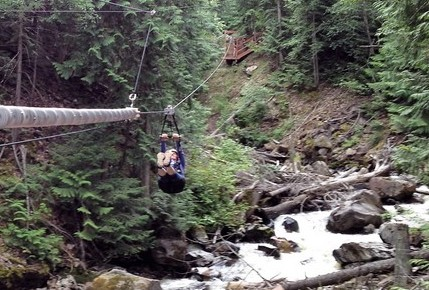 Sun Peaks Ziplining in Chase, BC with Treetop Flyers
